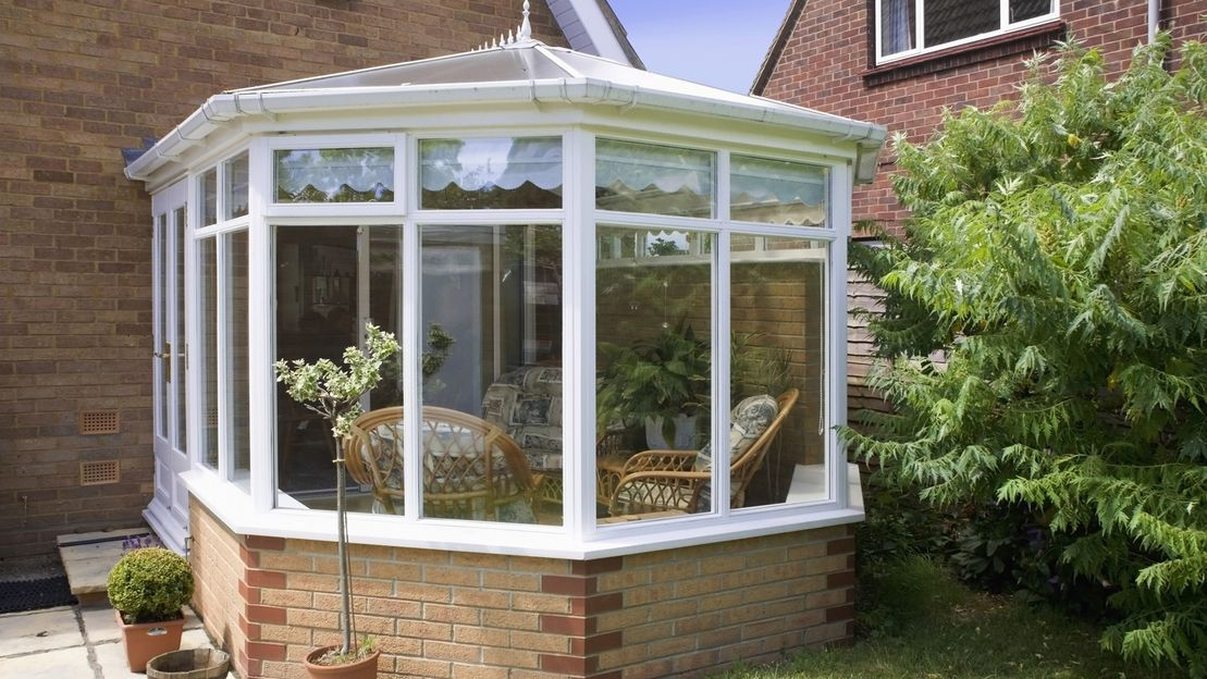 A Conservatory that has recently been cleaned by our team